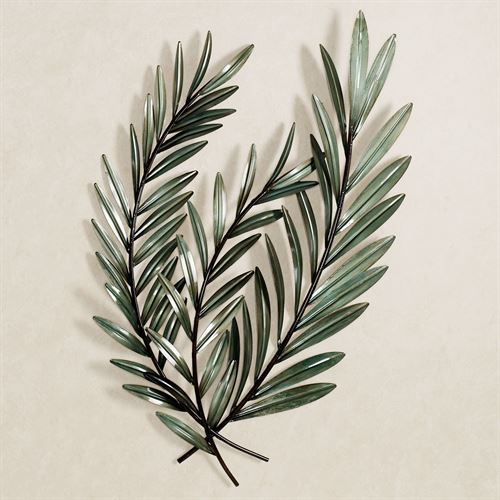Exceptional Laurella Leaf Wall Art Blue/Green