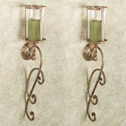Nico Hurricane Wall Sconce Pair Antique Bronze