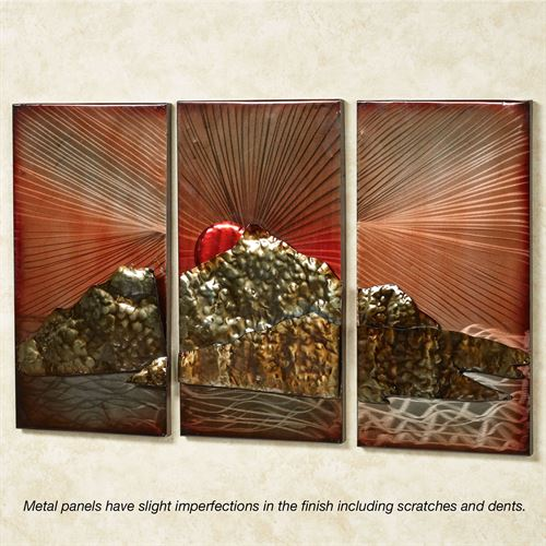 Tuscan Sunrise Wall Panel Set Multi Metallic Set of Three