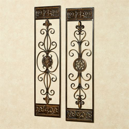 Dalmazio Wall Panel Set Brushed Bronze Set of Two