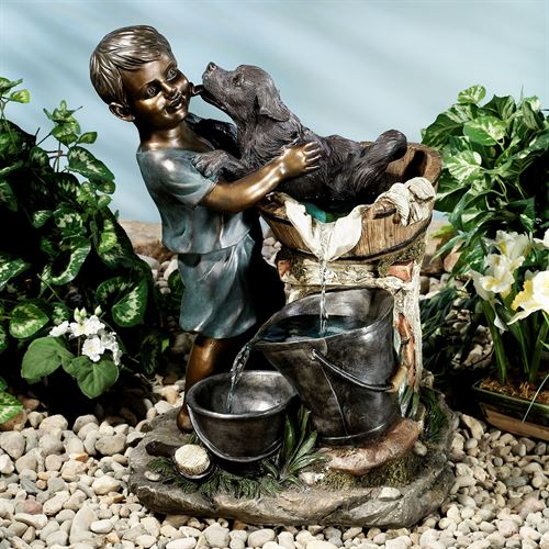 Bath Time Water Fountain Multi Metallic