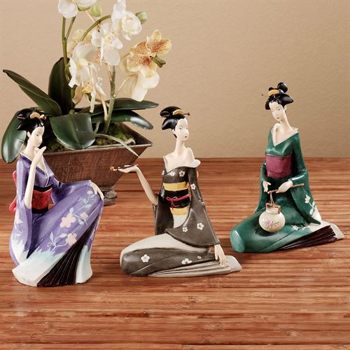 Wahana Geisha Sculpture Set Multi Jewel