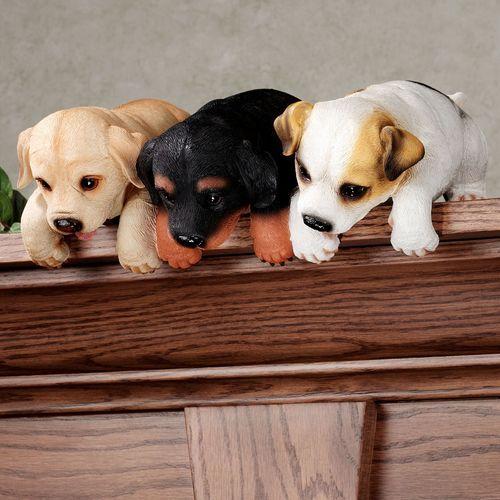 Puppy Shelf Sitter Black/Tan