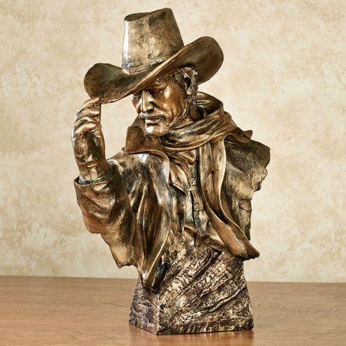 Cowboy Sculpture Weathered Bronze