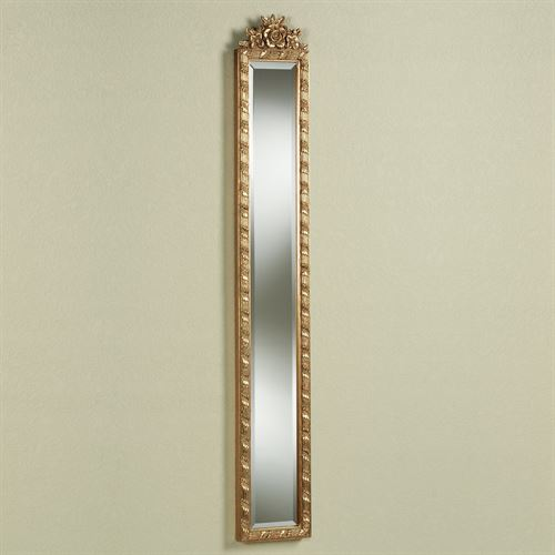 Giuliana Floral Mirror Antique Gold