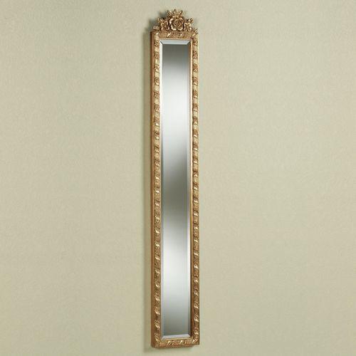 Giuliana Floral Mirror Antique Gold