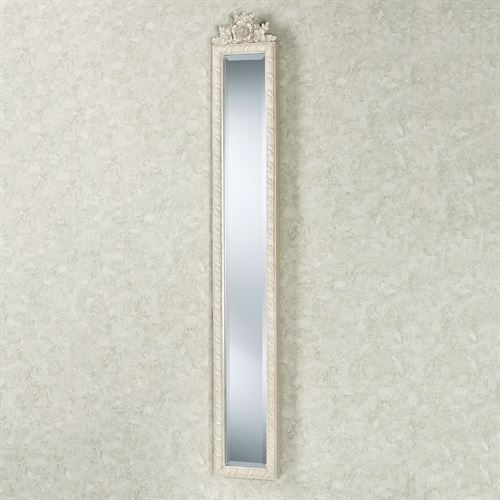Giuliana Floral Wall Mirror Panel Ivory