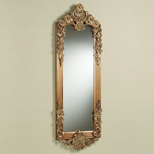 Gadsden Floral Mirror Dark Gold