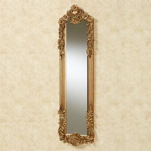 Gadsden Floral Mirror Dark Gold Small