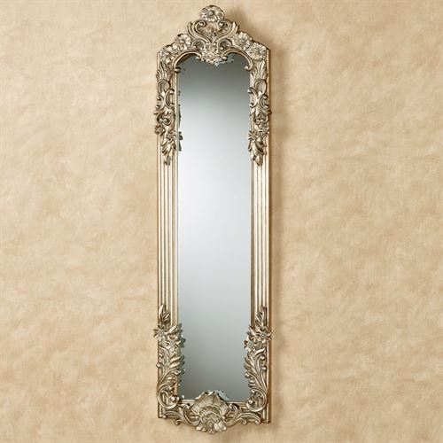 Gadsden Floral Wall Mirror Platinum Small