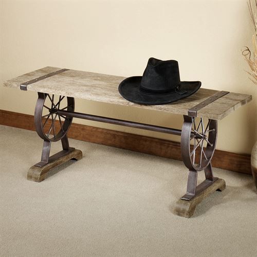 Open Range Bench Rustic Brown