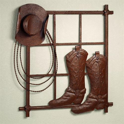 Elwood Cowboy Wall Art Rustic Brown