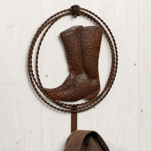 Clanton Cowboy Boot Single Wall Hook Rustic Brown