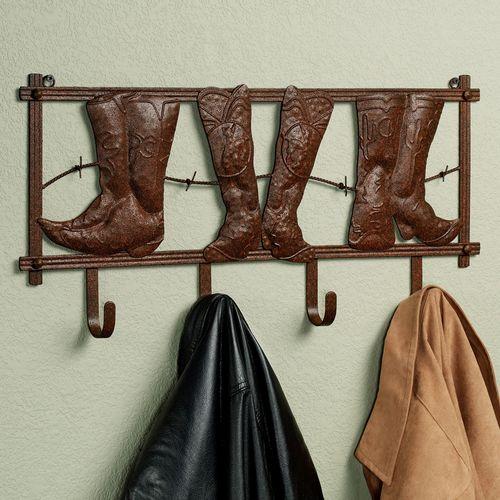 Kickin Country Wall Hook Rack Rustic Brown