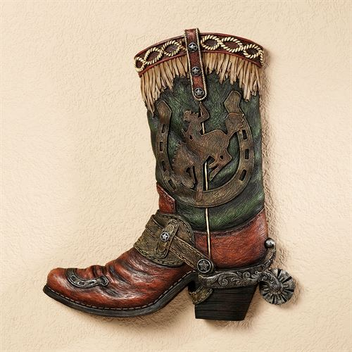 Giddy Up Boot Wall Art Multi Earth