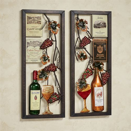 Valley Vineyard Wall Art Set Multi Jewel Set of Two