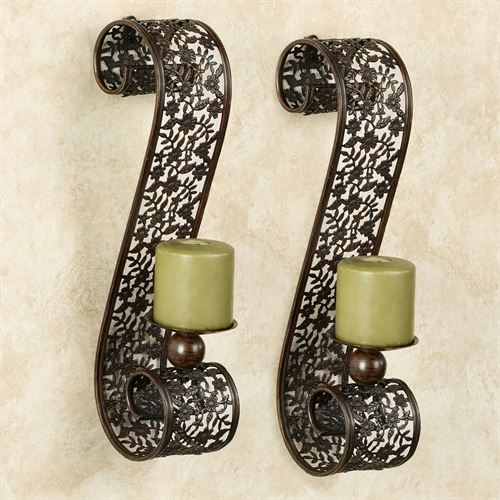 Diandre Wall Sconces Antique Bronze Pair
