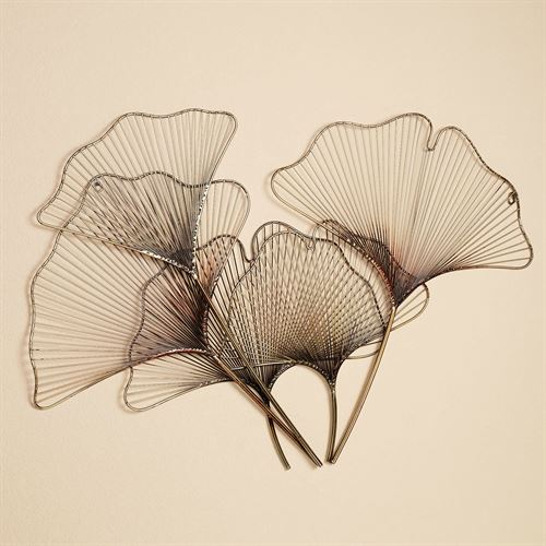 Ginkgo Breeze Wall Sculpture Multi Metallic