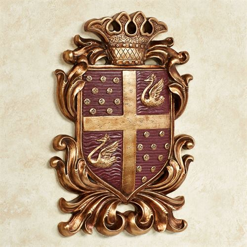 Monarchy Coat of Arms Wall Plaque Burgundy