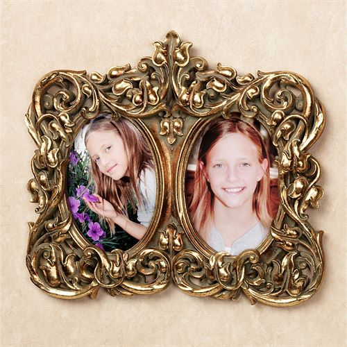 Phoebe Double Photo Frame Wall Accent Baroque Gold
