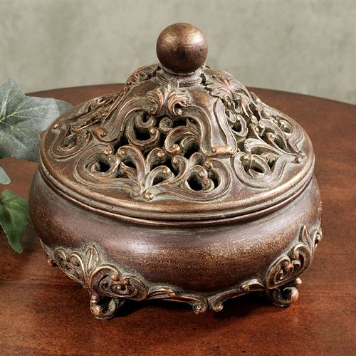 Samantha Covered Box Mahogany Bronze