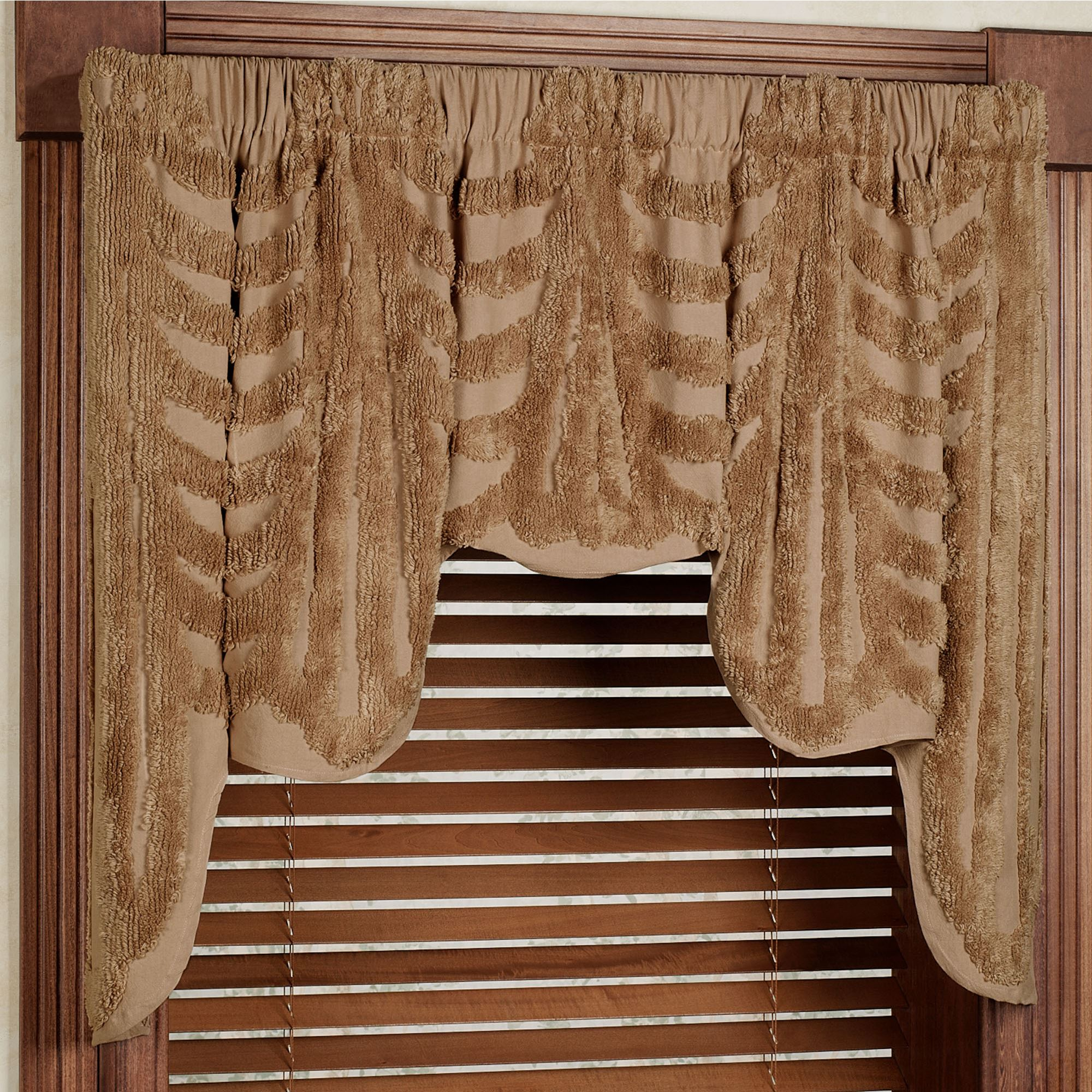 creamy blackout fabric curtain valance itm curtains pelmet ivory drapes sheer net blockout beige with swag