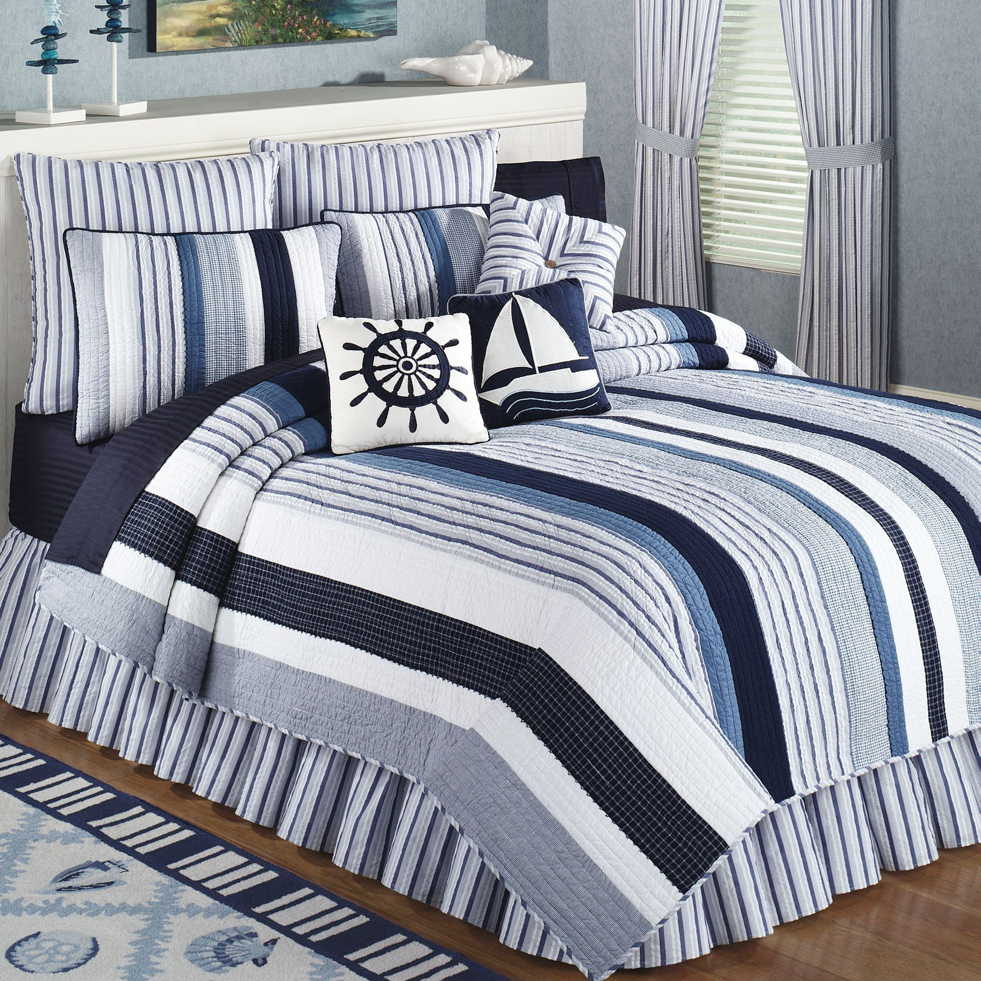touch to zoom - Nautical Bedding