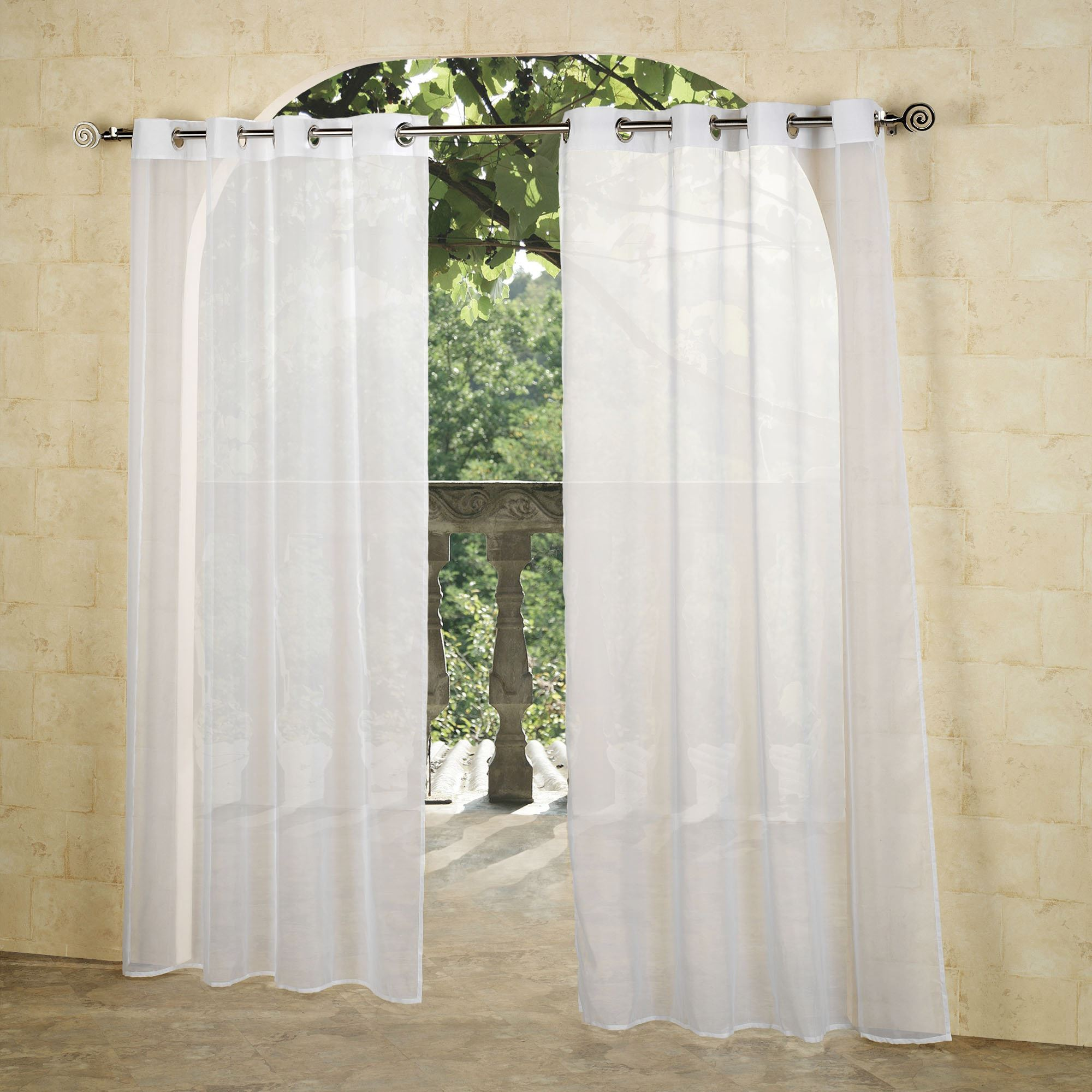 Escape outdoor sheer grommet panels for Grommet curtains with sheers