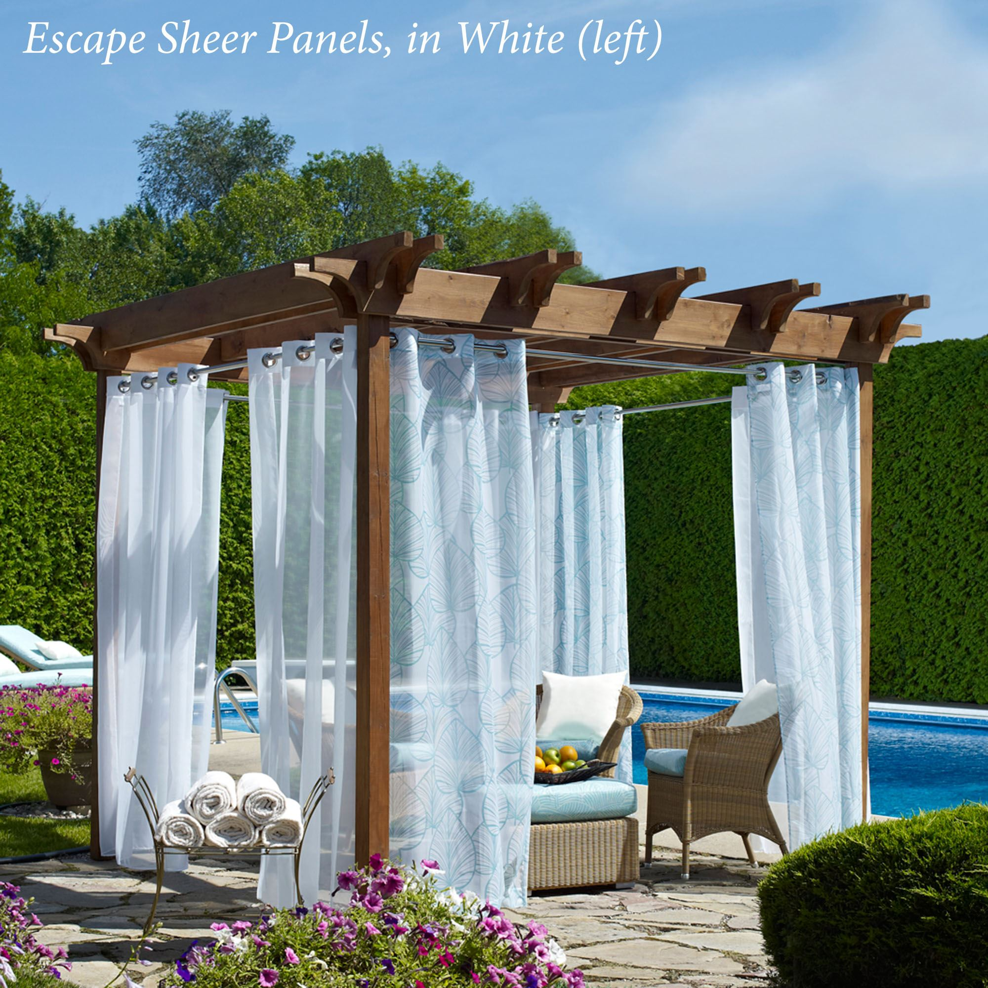 Escape Outdoor Sheer Grommet Panel