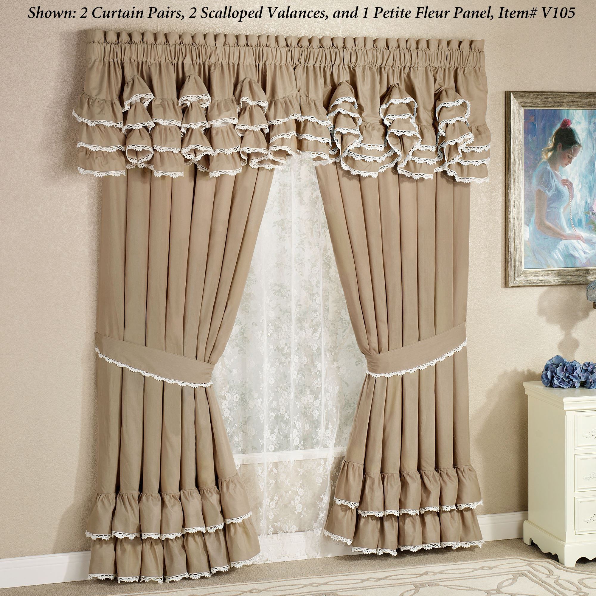 Antiquity Scalloped Valance Window Treatment