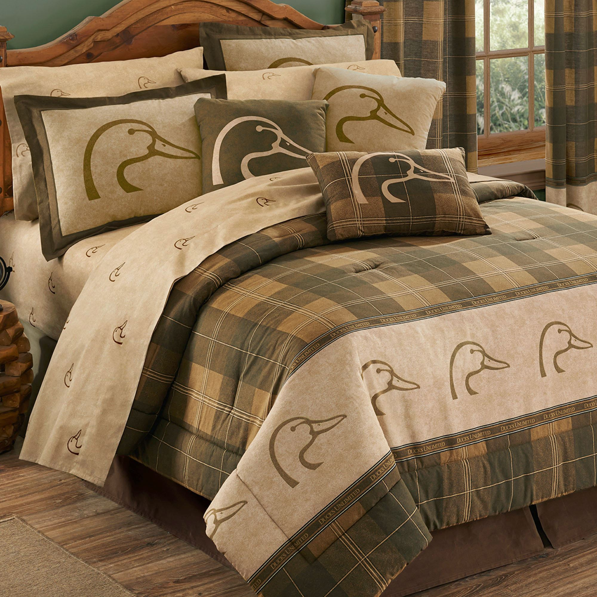 Ducks Unlimited Plaid Comforter Bedding