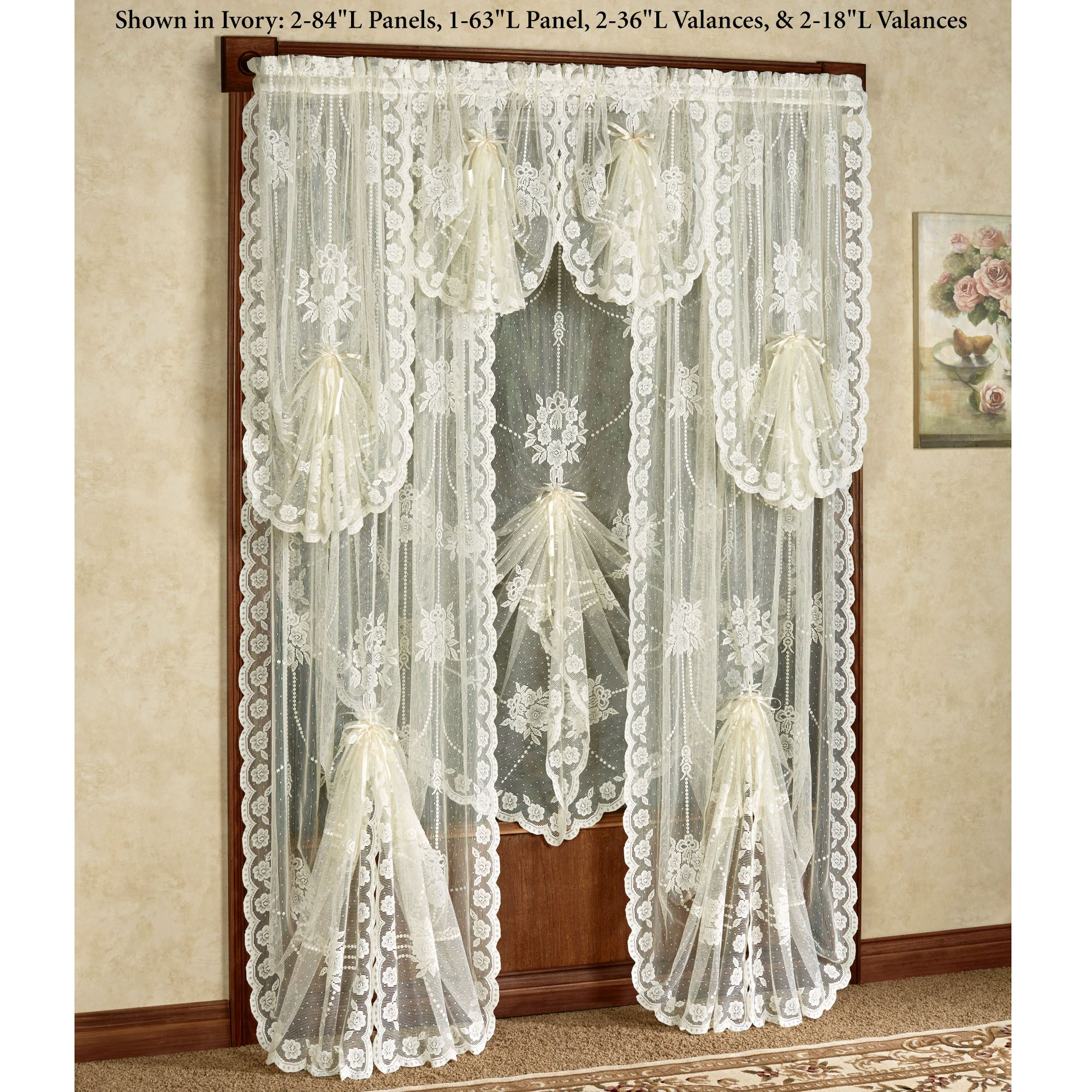 Victorian Bustle Lace Window Treatment