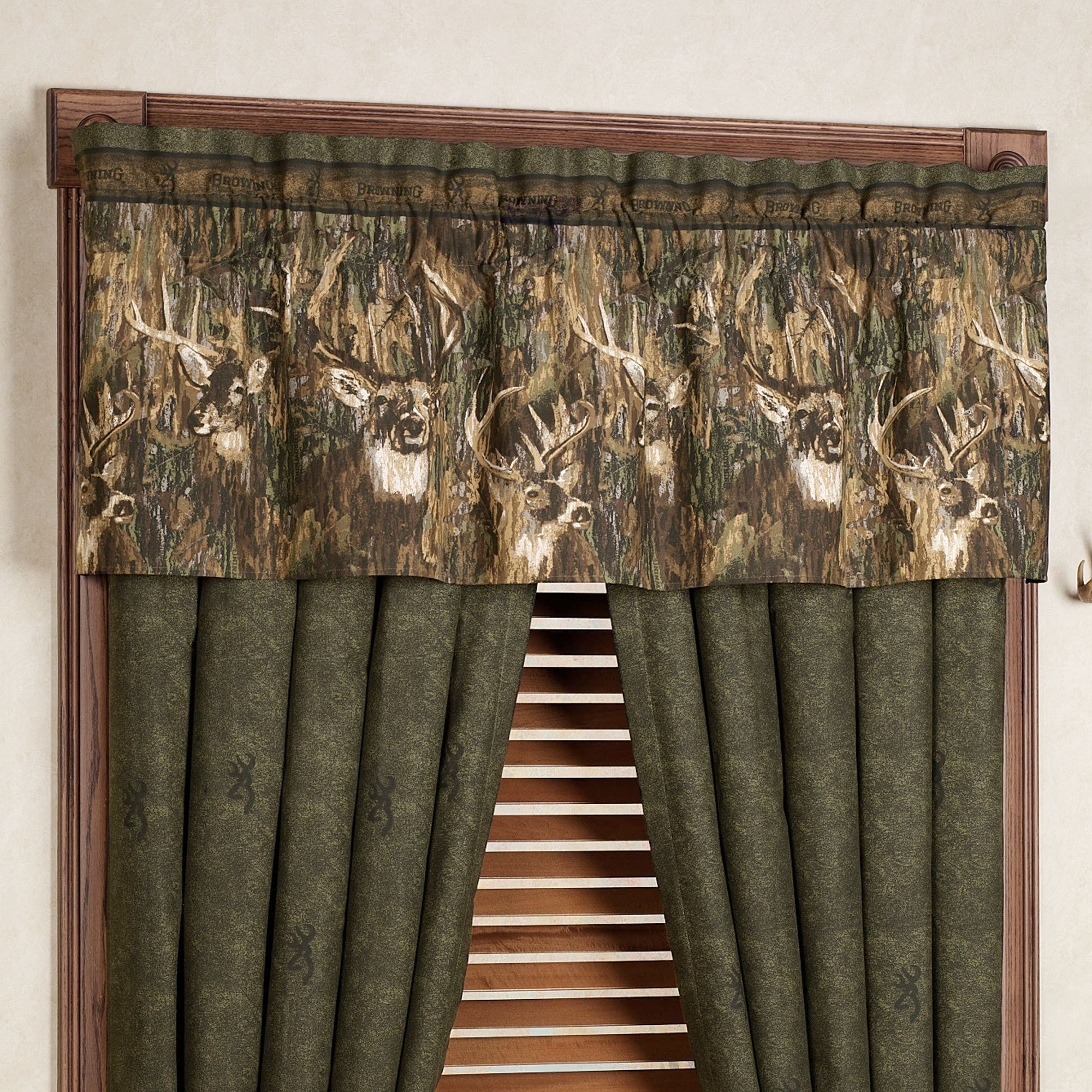 Awesome Browning(R) Whitetails Valance Multi Warm 63 X 15
