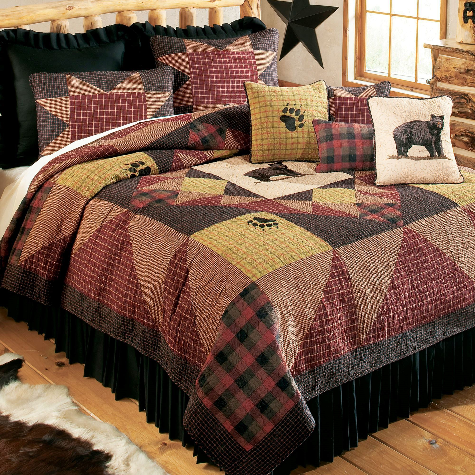 Bears Paw Plaid Patchwork Quilt Bedding By Donna Sharp