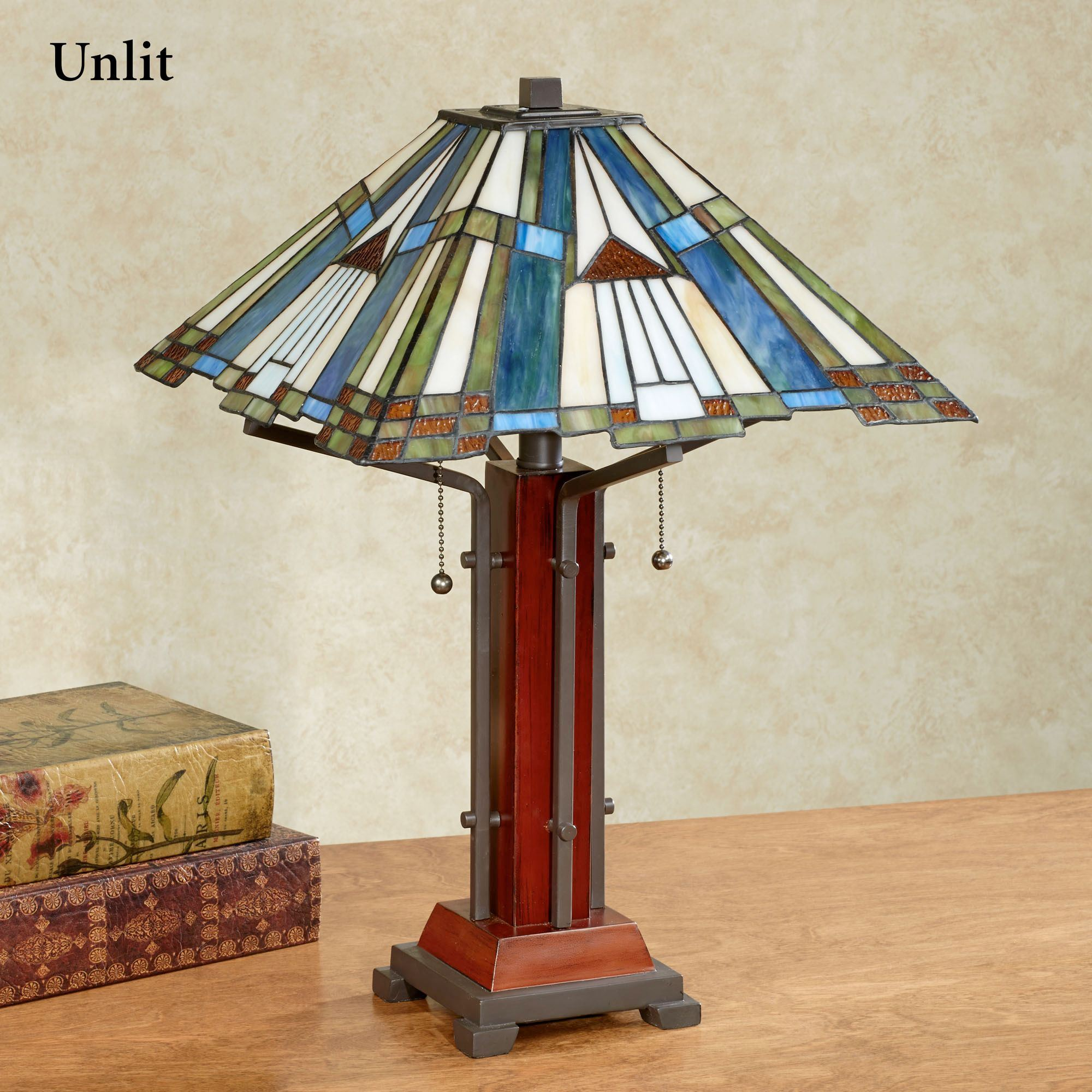 El camino southwest stained glass table lamp el camino stained glass table lamp multi earth each with cfl bulbs aloadofball Choice Image