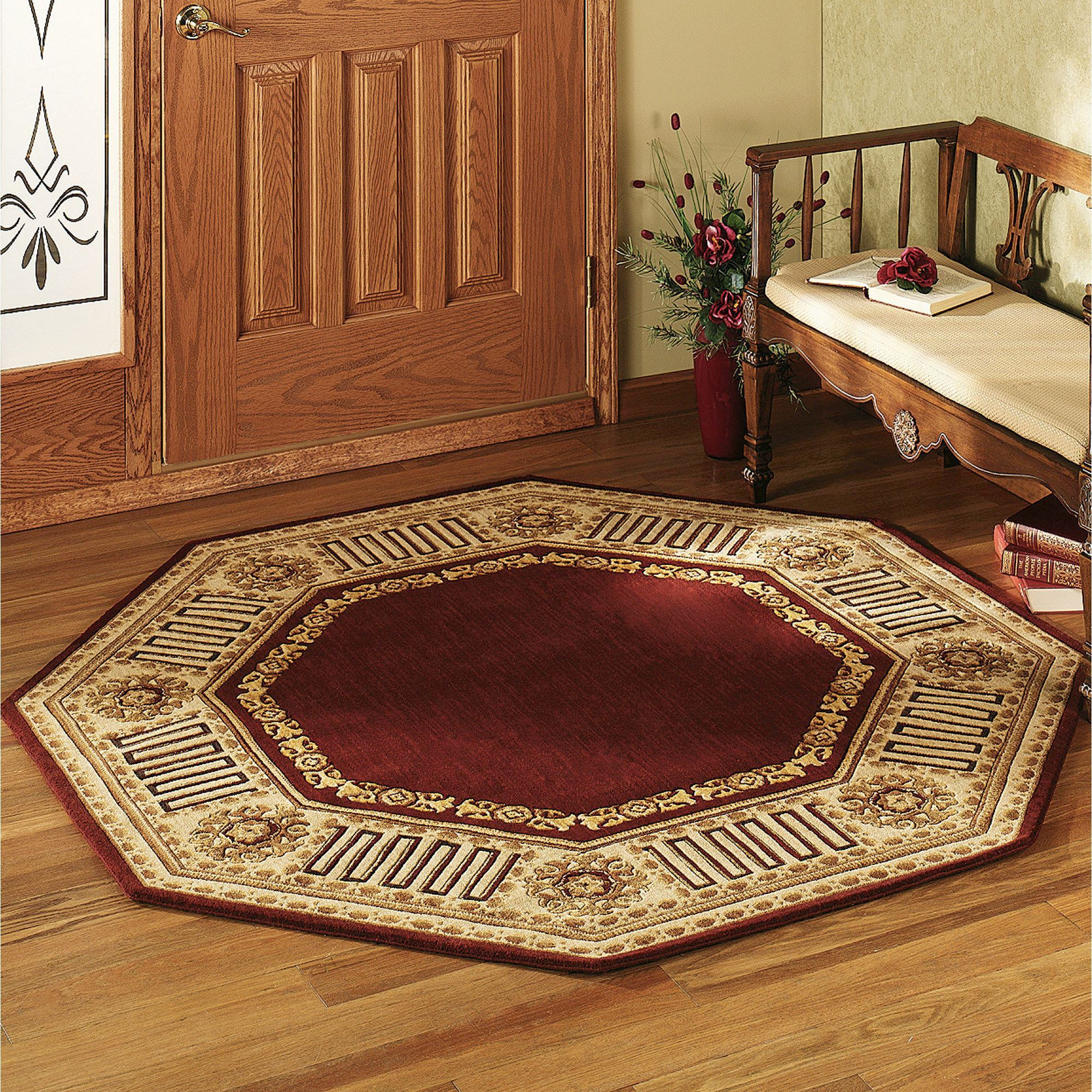 Greek Key Octagonal Rug