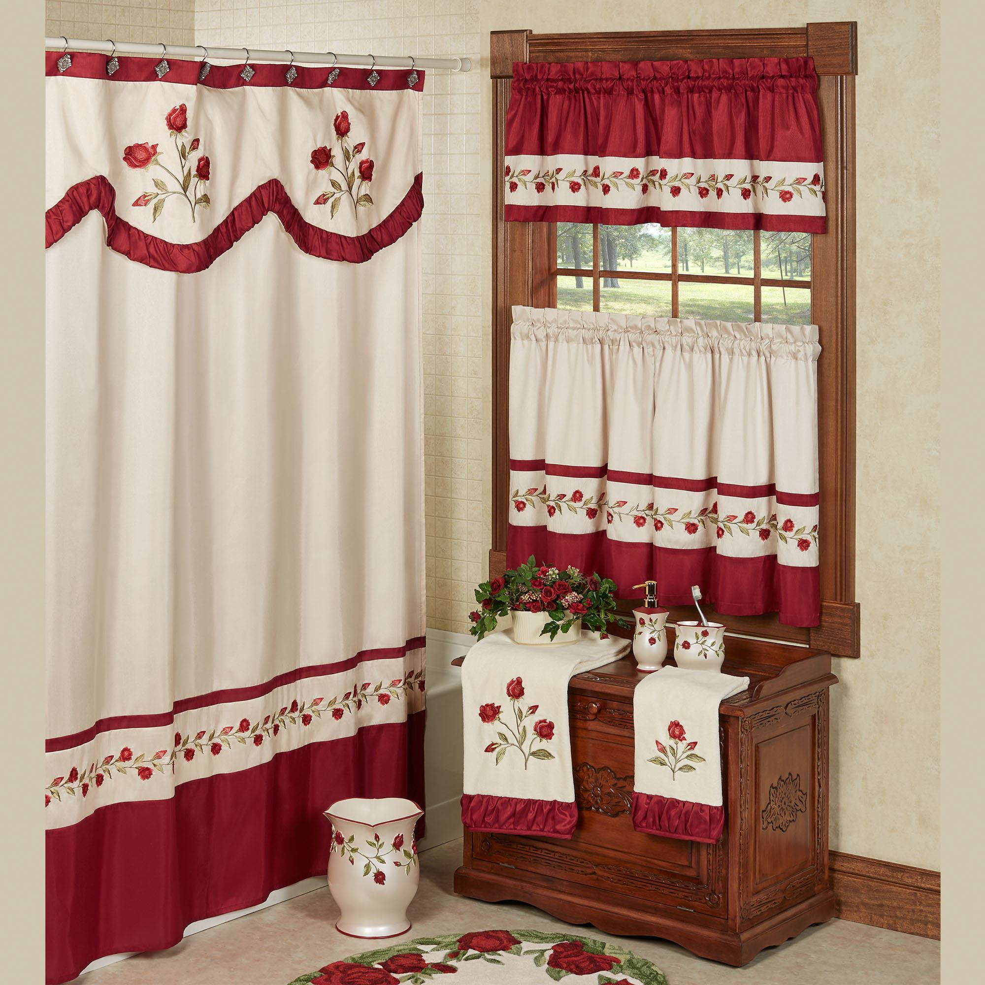 products curtains blush sweet interior shopcabin roses curtain shower