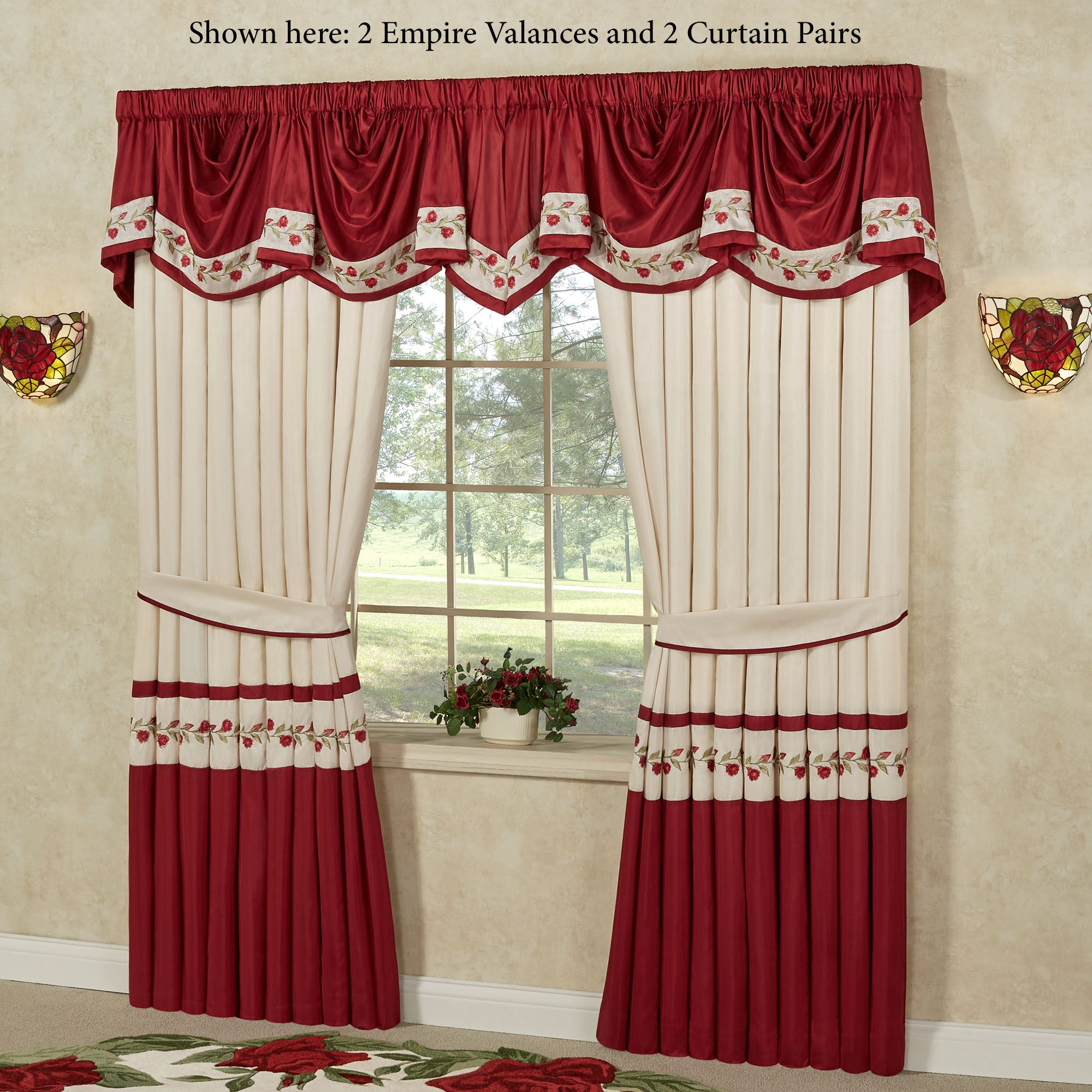 Valances Window Treatments Play Video · Briar Rose Empire Window Valance ...
