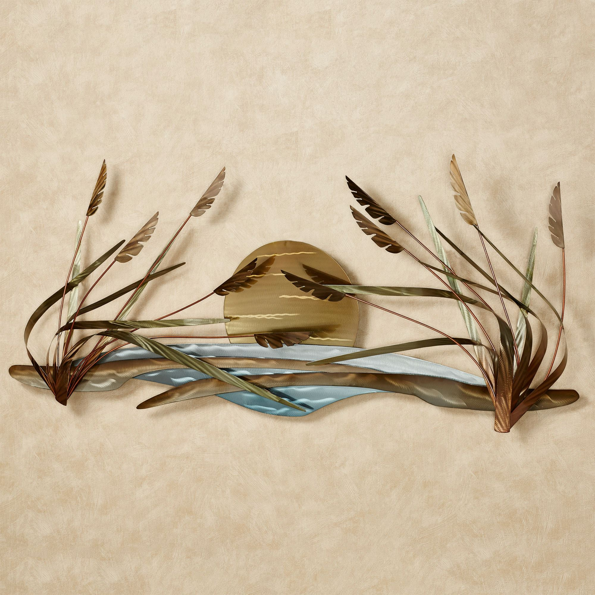 Coastal breeze indoor outdoor metal wall sculpture by for Wire wall art