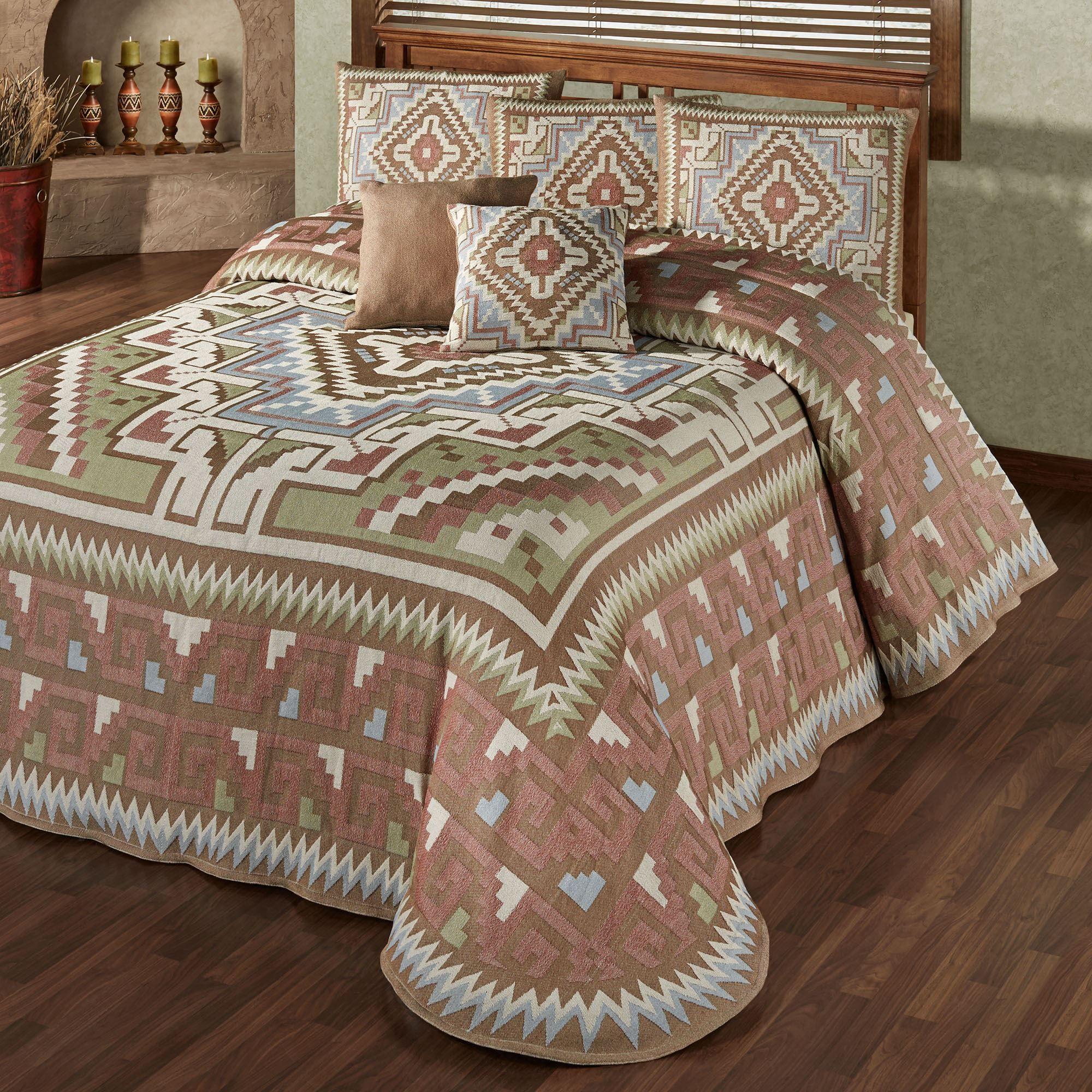 Attractive Valley View Grande Bedspread Multi Warm