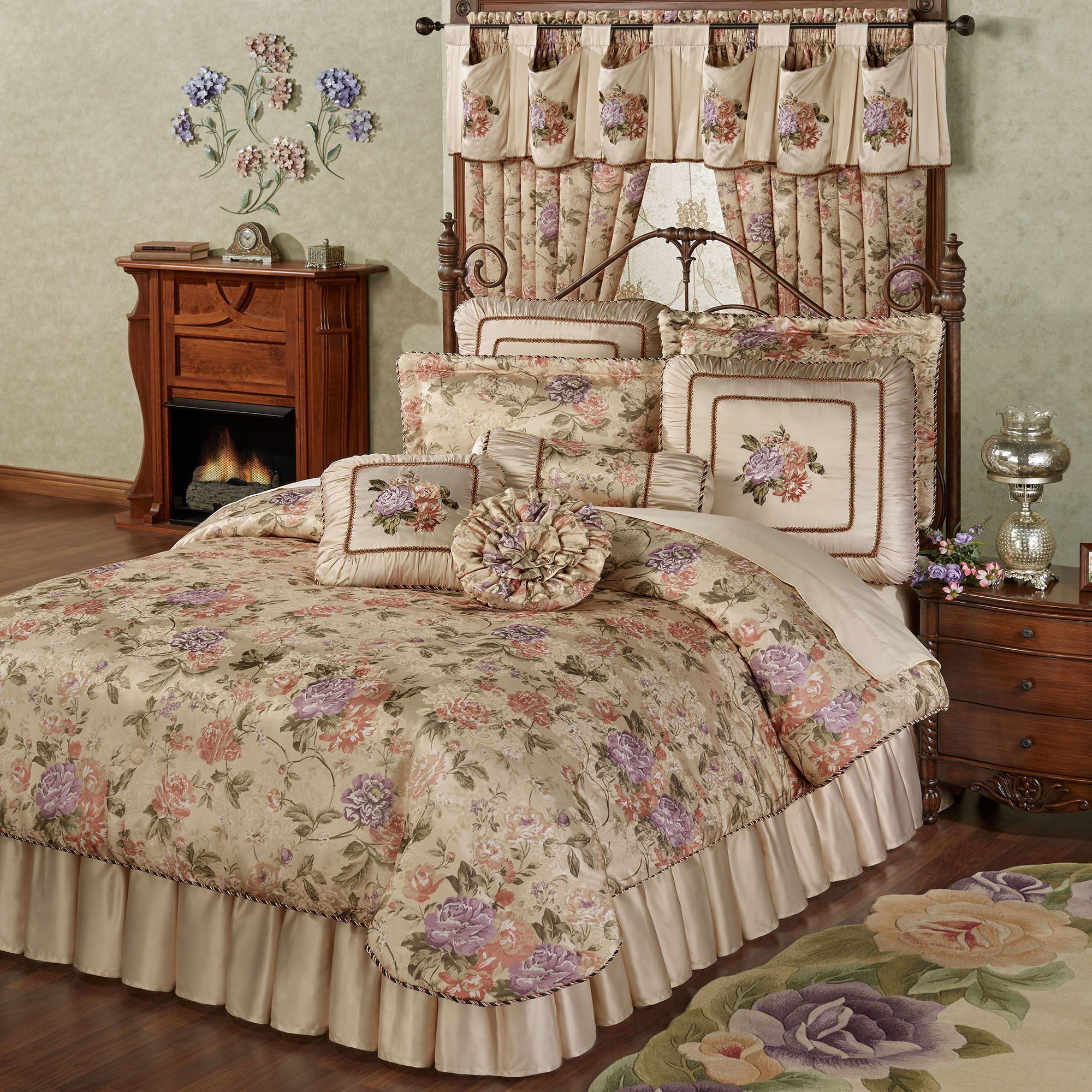 Forever floral comforter bedding - Bedroom sheets and comforter sets ...