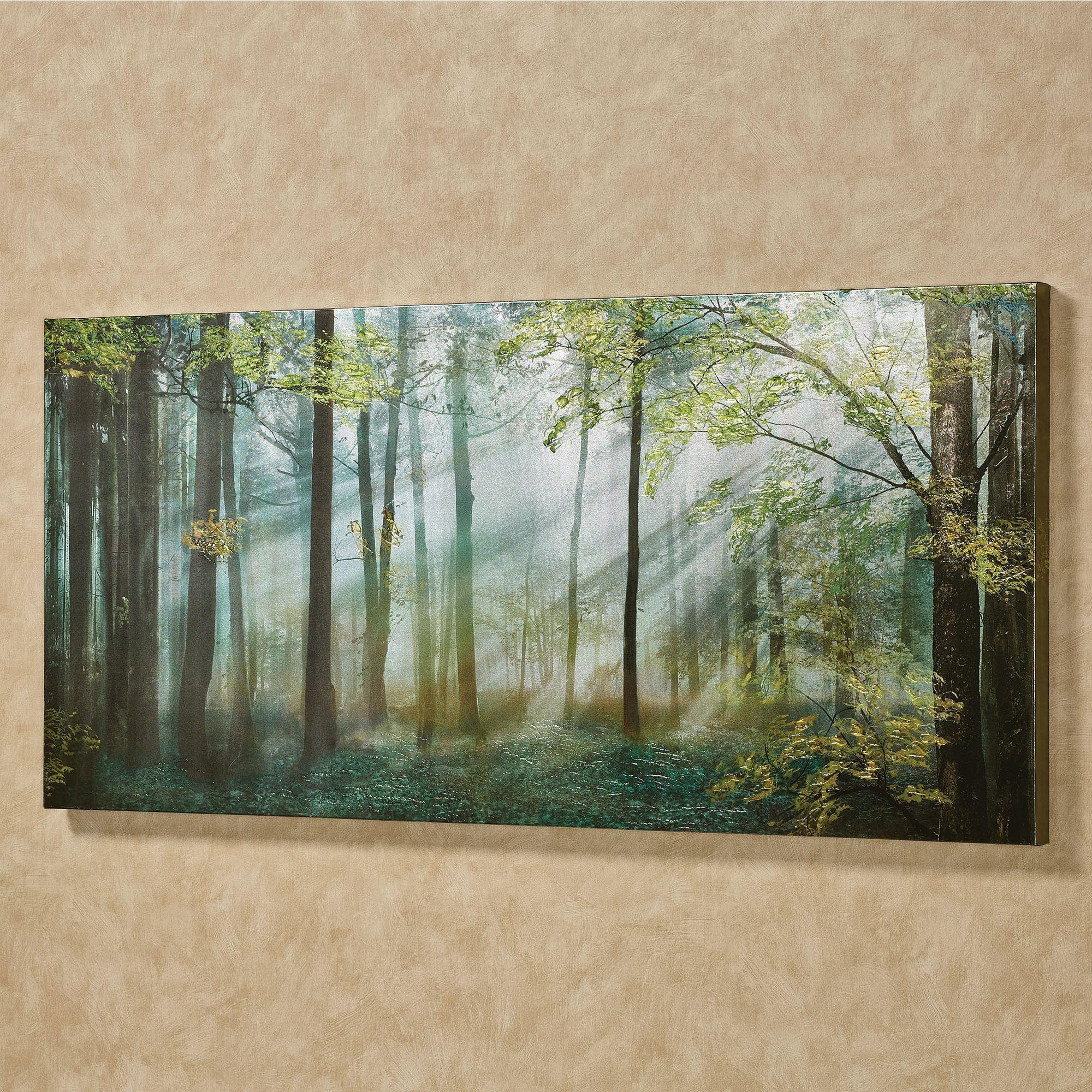 Summer Forest Canvas Wall Art