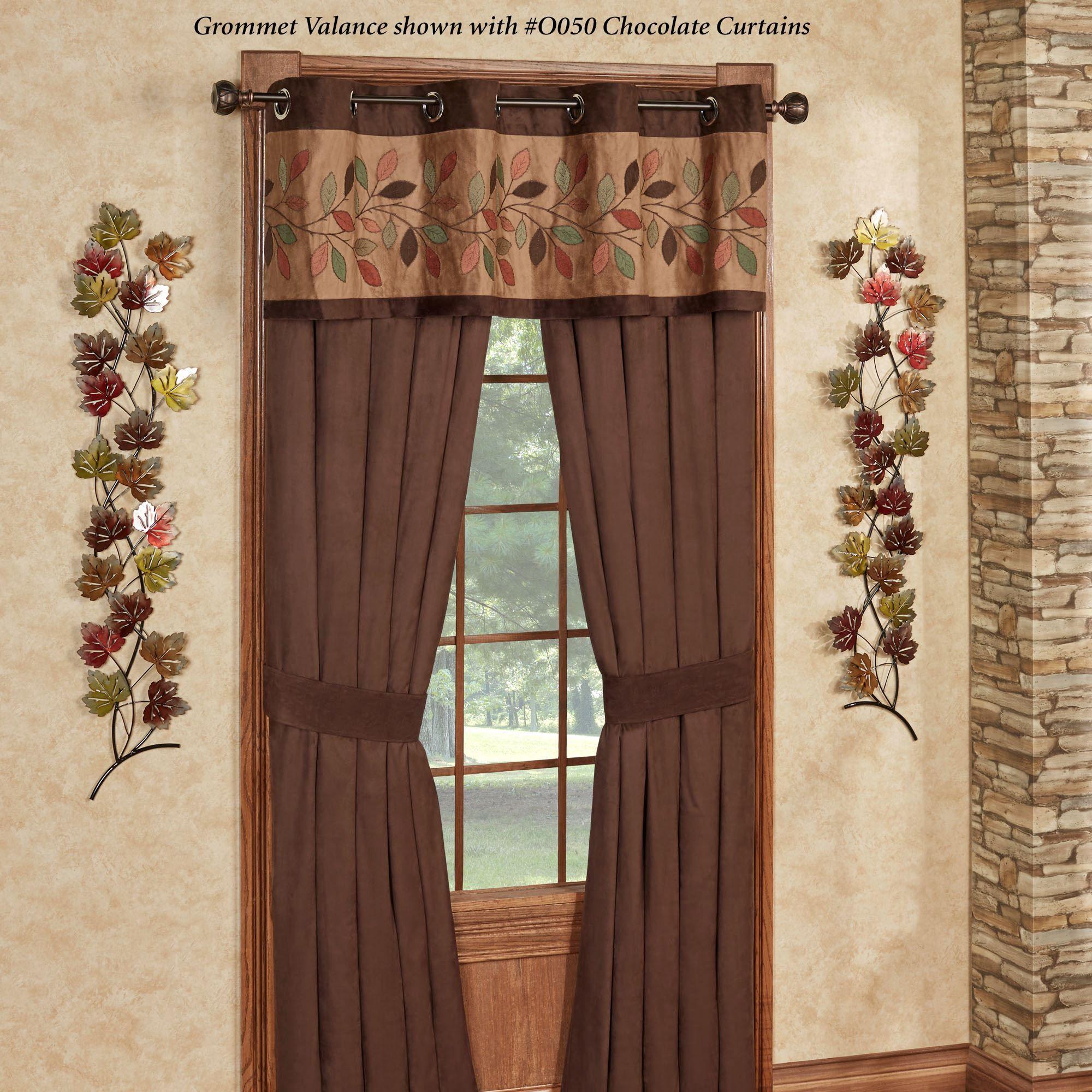 Leafbrook Faux Suede Grommet Valance Window Treatment