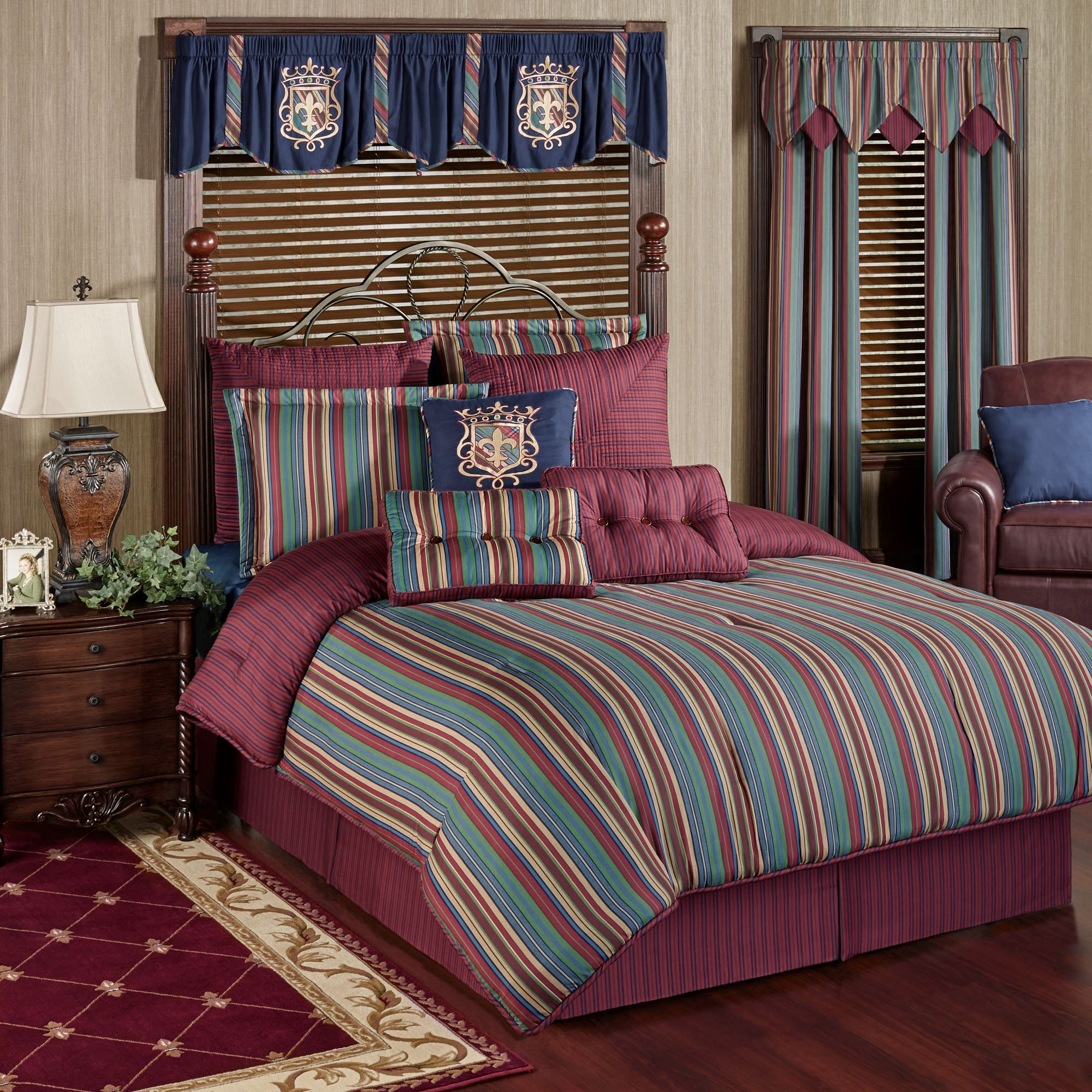 walmart king burgundy comforter red pc embroidered brown ip set striped casablanca com tan moroccan trellis