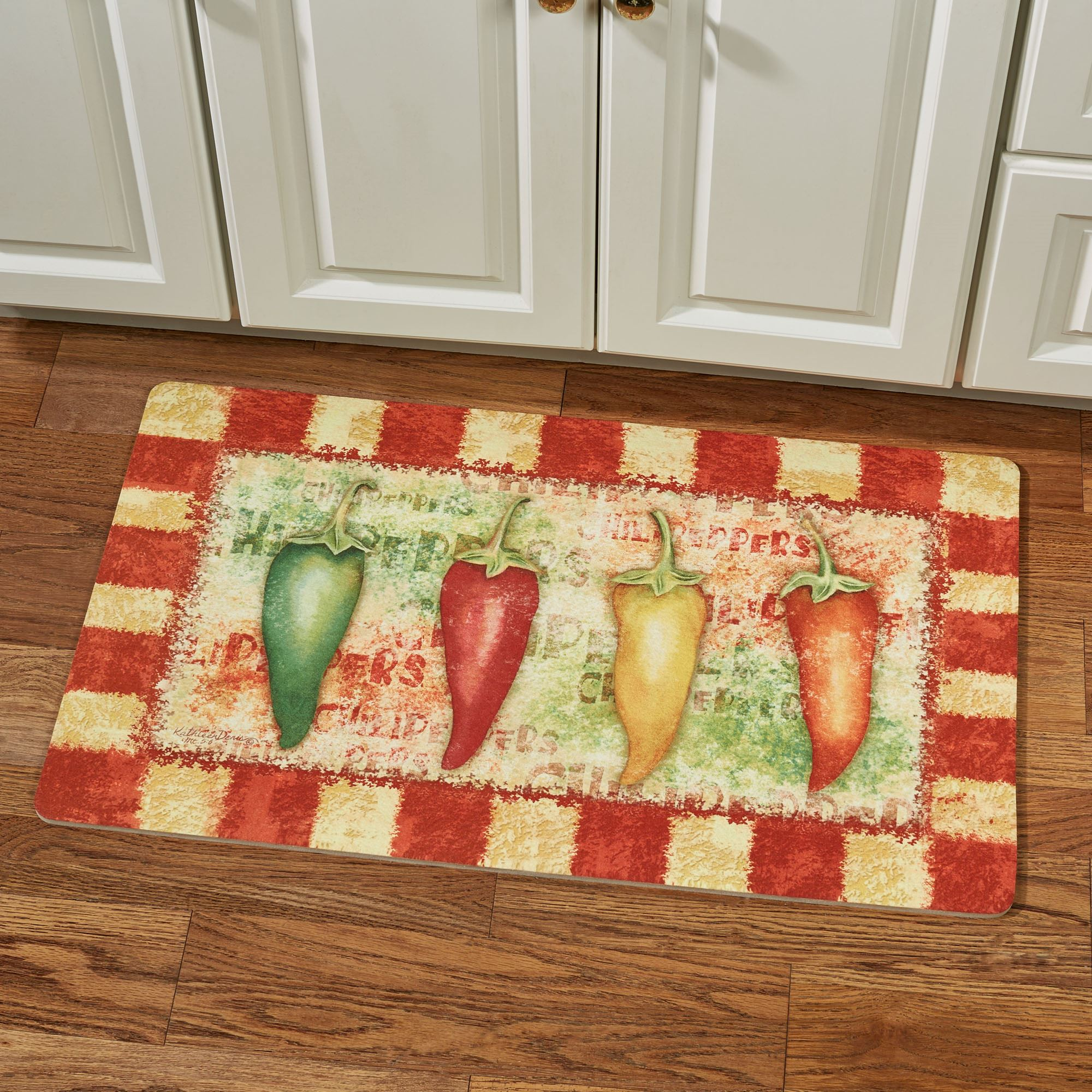 Hot And Spicy Chili Pepper Kitchen Comfort Mat