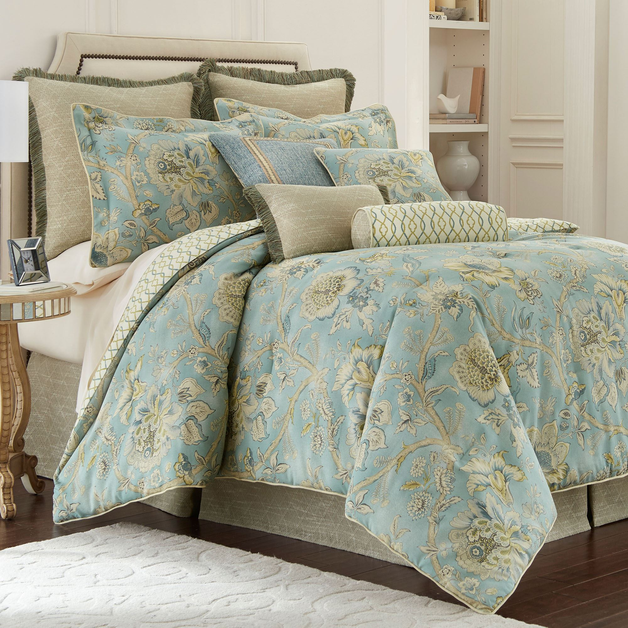 bedding bag c in comforter sets set paisley bed mainstays mainstay a monique teal kp