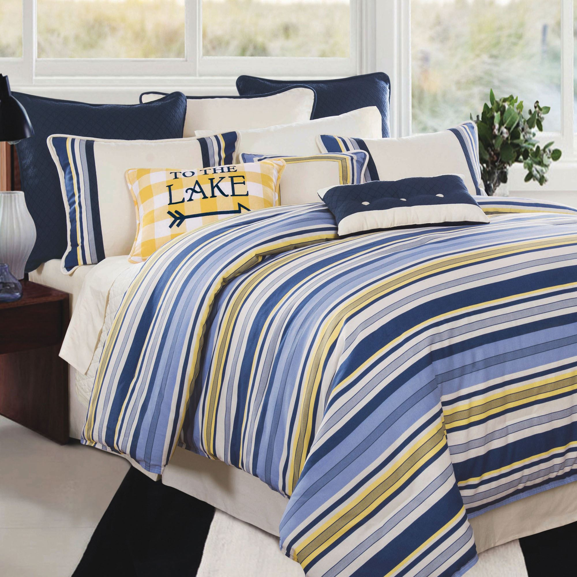 ixlib main duvet rails detail textured matalan striped yellow product cover