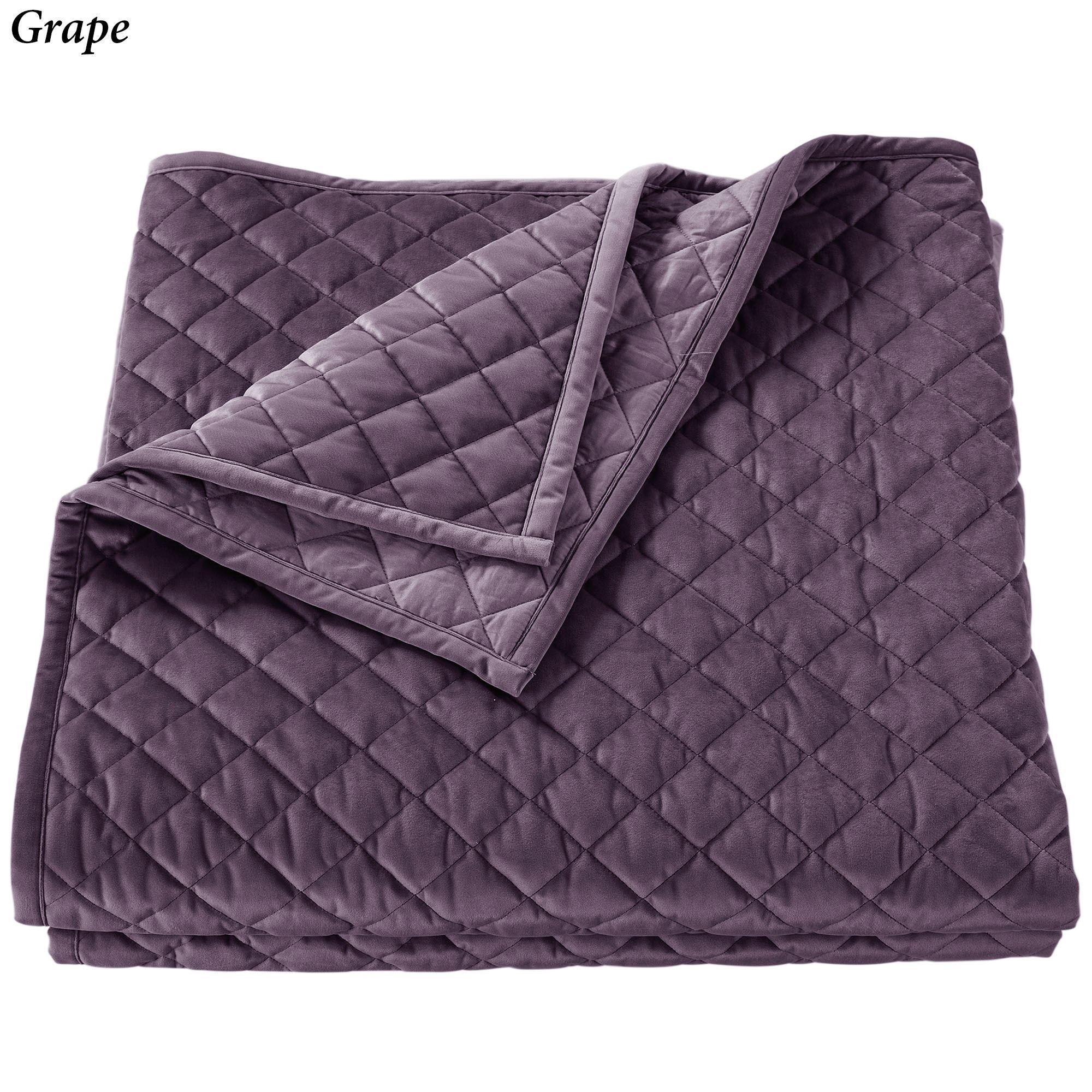 Fabulous Velvet Diamond Quilted Soft Quilt Bedding FV22