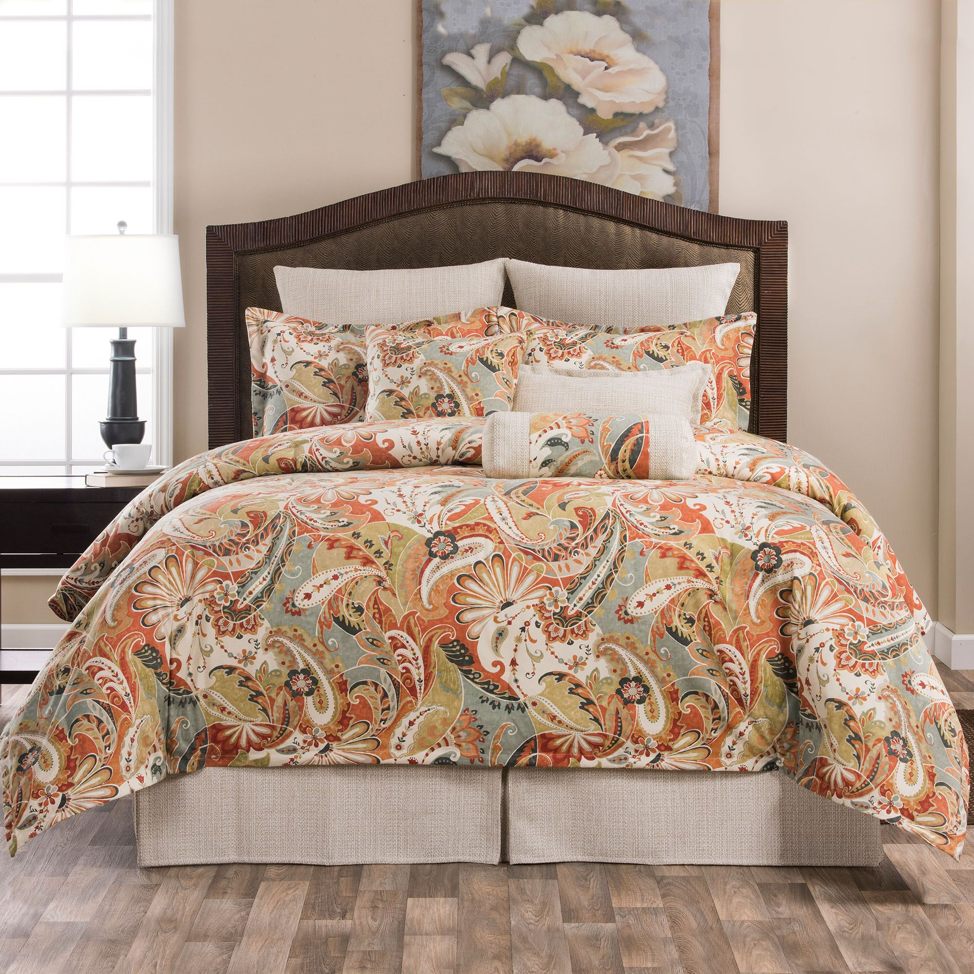 Contempo Multicolored Paisley Comforter Bedding