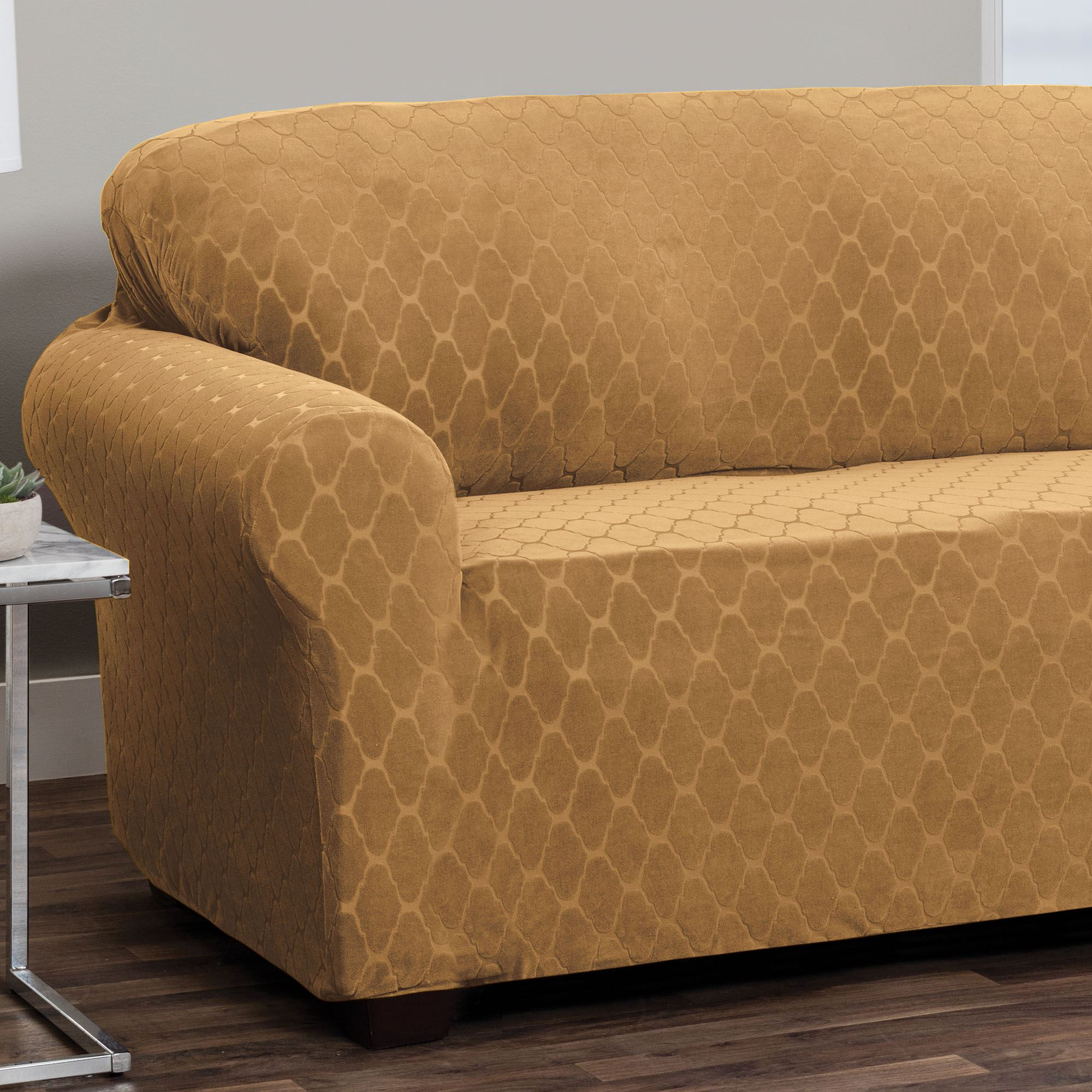 Helix Camel Stretch Furniture Slipcovers